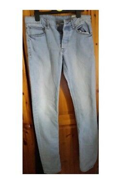 Denim Co Men Boy Jeans Skinny Stonewashed W32/l34 With Buttons