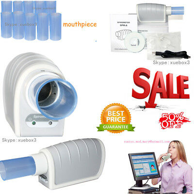 New CON-TEC Handheld Digital Spirometer,FVC, VC, MVV, Spirometer with Software