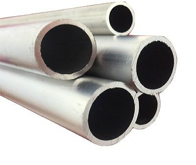 Aluminium Round Tube Pipe Various Sizes 25mm 30mm 40mm 50mm 60mm 80mm 100mm ....