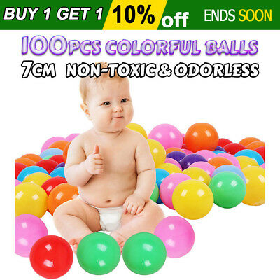 100x Secure Colorful Ocean Balls Baby Kids Pit Toy Soft PE Plastic Game Swim 7cm