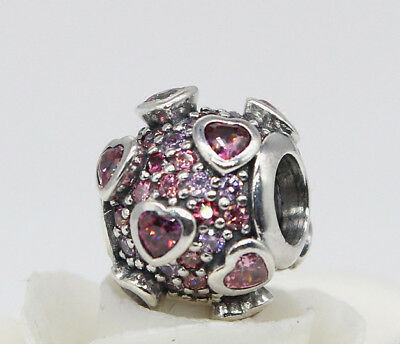 Genuine Pandora Silver Explosion of Love Charm Multi-Colored CZ Bead 796555CZSMX