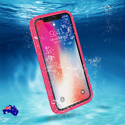 iPhone XR XS X 6s 7 Plus Shockproof Hybrid Waterproof Protective Case Full Cover
