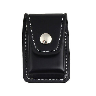 Fashion Leather Clip-On Lighter Sheath Pouch Case Holder&