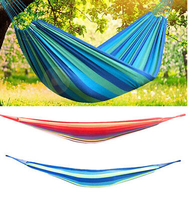 Portable Double Person Travel Camping Polyester & Cotton Hammock Sleep Swing