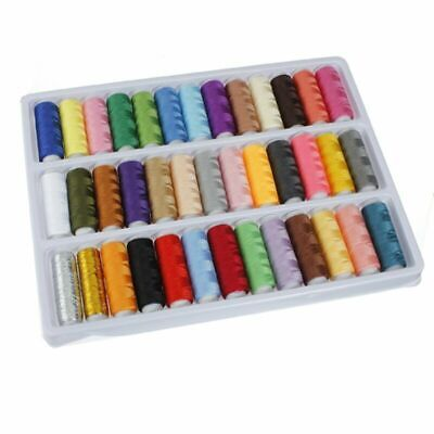 39 Rolls Assorted Colour Spools Cotton Threads For Hand Sewing Machine