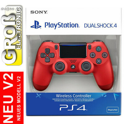 Controller PS4 PLAYSTATION Dual Shock 4 DualShock Magma Red Rot V2 Sony 2017 NEU