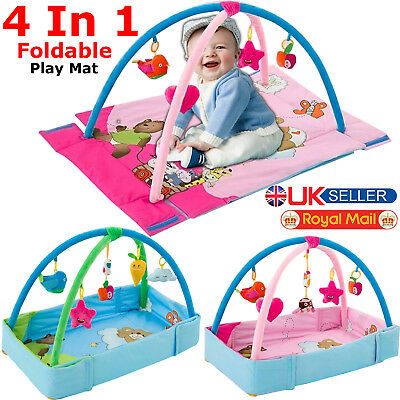 Baby Gym Play Mat Lay & Play 3 in 1 Fitness Music And Lights Fun Piano Boy Girls