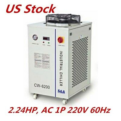 US Deal! S&A 220V 60Hz CW-6200BN Industrial Water Chiller for 600W CO2 Laser