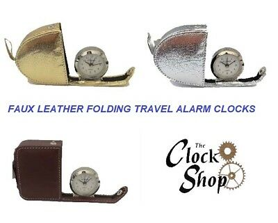 Compact Travel Alarm Clock Lesser & Pavey Leonardo Collection In Folding Case