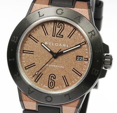more photos c1b35 3b252 Mint Condition!! BVLGARI DIAGONO MAGNESIUM DG41SMC Brown dial  Automatic_405377