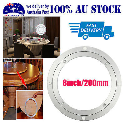 """8"""" Kitchen Lazy Susan Metal Bearing Rotating Turntable Round Swivel Table Plate"""