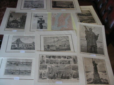 Lot 12 Stiche-Prints-Amerika-America-USA-United States-New York-No.1581