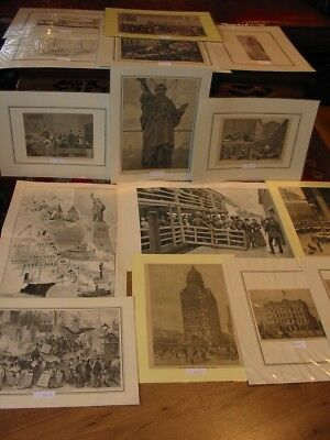 Lot 15 Stück-Stiche-Prints-Amerika-America-USA-United States-New York-No288