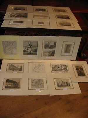 Lot 20 Stück-Stiche-Prints-Amerika-America-USA-United States-New York-No285