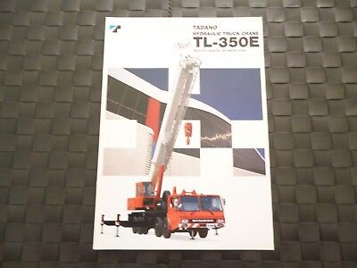 Tadano Hydraulic Truck Crane Tl-350E Brochure/Booklet *As Pictures*