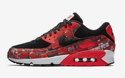 NIKE X ATMOS Air Max 90 Print We Love Nike Black Bright