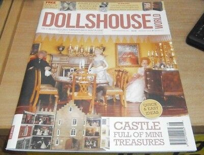Dollshouse World magazine Aug 2018 Castle full of mini treasures + Map of World