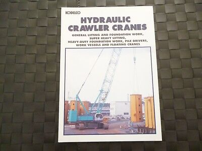 Kobelco Hydraulic Crawler Cranes 14 Page Brochure/Booklet *Rare* *As Pictures*