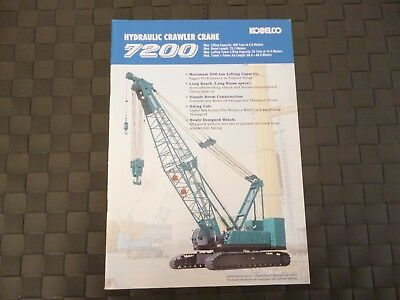 Kobelco Hydraulic Crawler Crane 7200 34 Page Brochure/booklet *as Pictures*