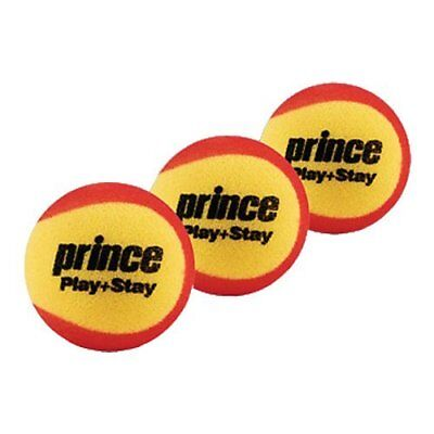 Prince Play & Stay Stage 3 Foam Tennis Balls 3 Balls per Pack