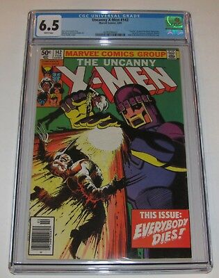 The Uncanny X-Men #142 CGC 6.5 - Marvel Comics 1981 - Days of Future Past Part 2