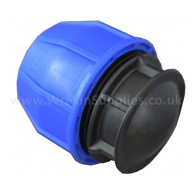 END CAP* MDPE Stop Plastic Compression Fitting Water Pipe WRAS Connector Poly