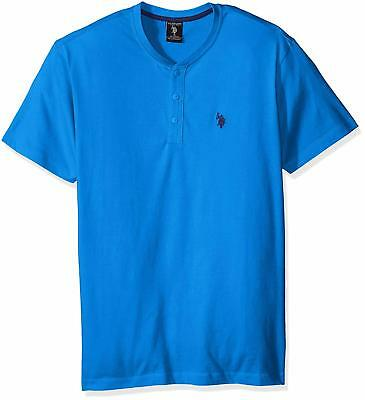 Polo Assn 11-8261-PO Mens Solid Short Sleeve Henley Classic Fit T-Shirt U.S