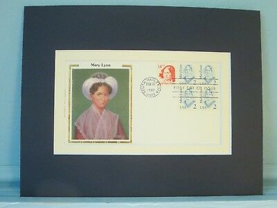 Mary Lyon - founder of Mount Holyoke College & First Day Cover of her stamp