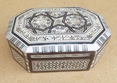 Vintage Egyptian Inlaid Wooden Box