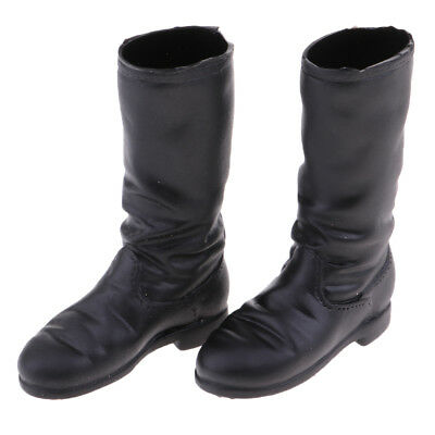 1/6 Scale Women Solider Low-heeled Boots for 12'' Phicen Action Figure Doll
