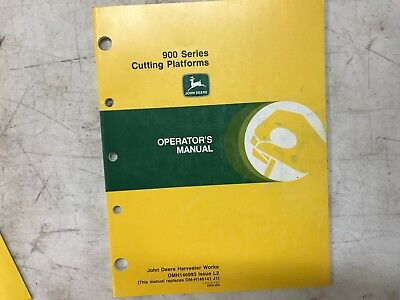 #OM9  VINTAGE John Deere OPERATORS MANUAL 900 CUTTING PLATFORMS OMH146993 L2