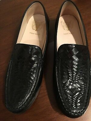 898d94b80c3 Womens Cole Haan Pinch Genevieve Weave Loafer Black Size 11m pre owned