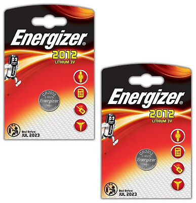 Genuine Energizer 2X Cr2012 3V Lithium Coin Cell Battery Dl2012, Br2012