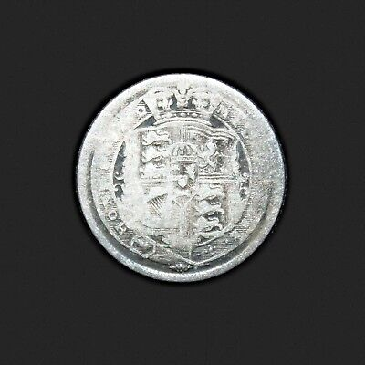 KM# 665 - Sixpence - 6d - Silver (.925) - George III - Great Britain 1817 (VG)