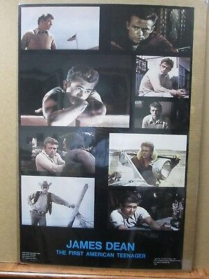 James Dean poster  The first american teenager 1978 vintage poster inv#G2022