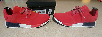 a998123f46a82 Adidas NMD R1 Vivid Red UK exclusive Mens 9.5 10 Womens 11 W11 S76013
