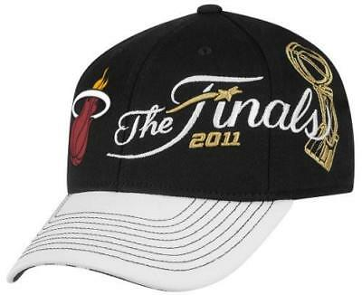 14a4691c73fe12 Miami Adidas 2011 Eastern Conference Locker Room Hat Black White 1 Size  Fits All