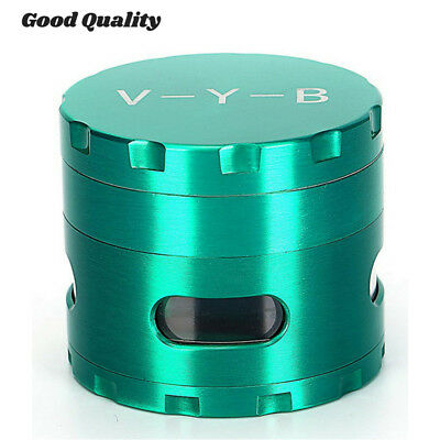"Large Spice Tobacco Herb Weed Grinder-4 Pcs with Pollen Catcher 2.5"" Gift Green"