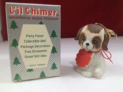 Vintage Collectible Porcelain Bell Dog Made By Jasco Lil Chimer
