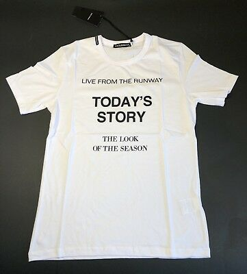 998e874a Dolce Gabbana Brand New Men T Shirt Size Xl Color White King Crown Story  Look