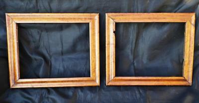 """A Pair of Antique Bird's Eye Maple Picture Frames 19thC. Victorian 18""""x15inch"""