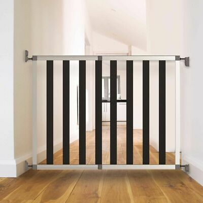 Noma Safety Gate Ikon Noir 62-104 cm Aluminium Black Baby Safety Barrier 94085