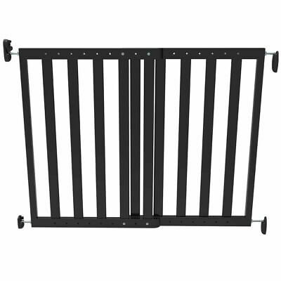 Noma Extending Safety Gate 63.5-106 cm Wood Black Baby Security Barrier 93743