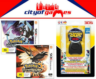 Pokemon Ultra Moon & Ultra Sun 3DS & Datel Action Replay Power Saves 3DS Bundle