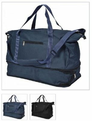 d46190dc66eb8 Mens   Boys Sports   Gym Holdall Bag - SPORTS TRAVEL WORK SCHOOL Black-Navy
