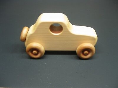 T201 Old Style Coupe, Wooden Toy Car, Handmade Toy Car, Handcrafted Toy Car