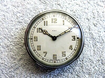 Smiths 8 Day Car Dashboard Clock Made In England Chrome Case For Restoration