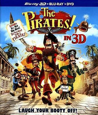 The Pirates Band of Misfits (Blu-ray, DVD, 3D Blu-ray) Brand New