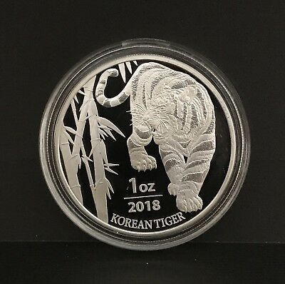 2018 1 oz South Korean Tiger Silver BU 999 Silver