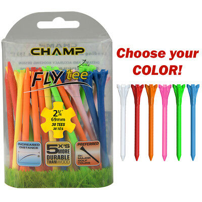 """Champ Zarma Fly Tee 2 3/4"""" Pack of 30 Durable Low Resistance Tees - Choose Color"""
